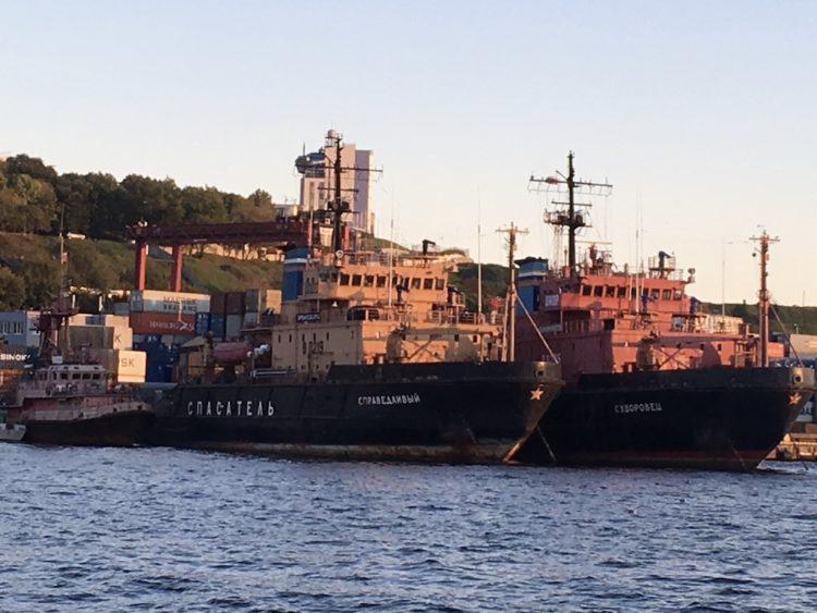 ウラジオストク金角湾〜ルースキー大橋遊覧船(フェリー)からの眺め