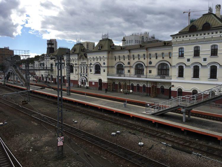 ウラジオストク駅のプラットフォーム