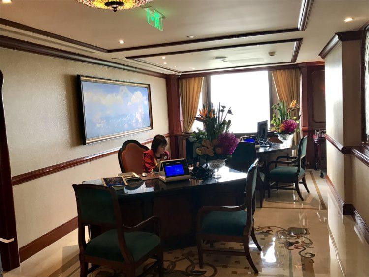 上海ディズニーランドホテル クラブレベルでチェックイン