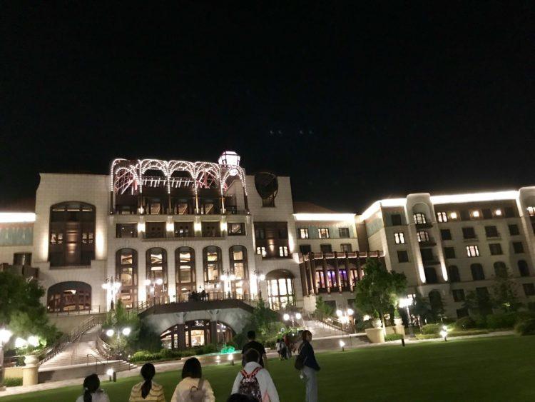 上海ディズニーランドホテルの夜景
