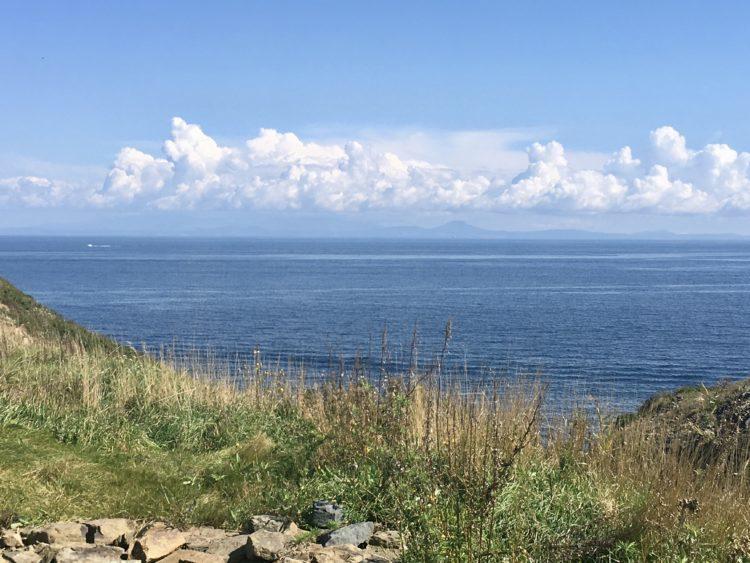 ウラジオストク プリモルスキー 水族館へ続く坂道からの眺め