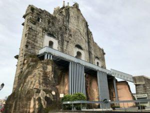 聖ポール天主堂跡の裏側