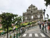 マカオの世界遺産の代表 聖ポール天主堂跡