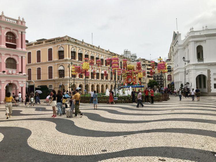 世界遺産が集中するマカオのセドナ広場
