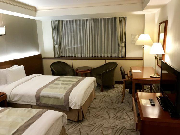 ウラジオストク ロッテホテル スタンダードダブルのお部屋の客室内