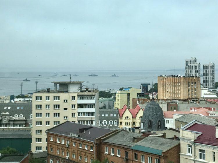 ウラジオストク ロッテホテル スタンダードダブルのお部屋からの眺望