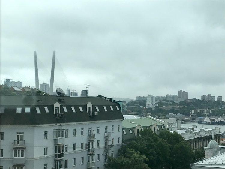 ウラジオストク ロッテホテル スタンダードダブルのお部屋のからの眺望