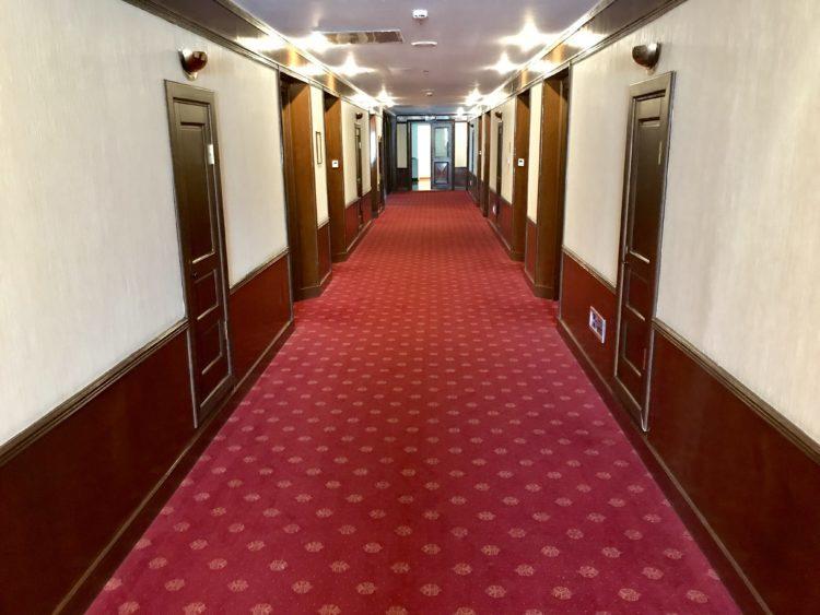 ウラジオストク ベルサイユホテルの廊下