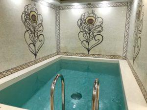 ウラジオストクの宮殿ホテルヴィラ アルテ ホテル( Villa Arte Hotel)の水風呂