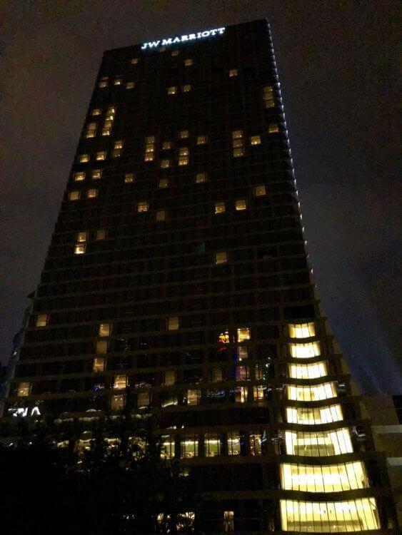 JWマリオット・マーキス・ホテル上海浦東の外観