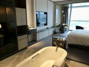 JWマリオット・マーキス・ホテル上海浦のデラックスリバービューの客室