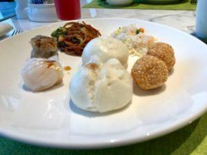 JWマリオット・マーキス・ホテル上海浦のデラックスリバービューの朝食