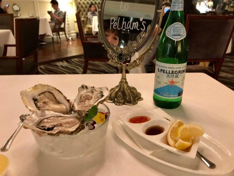 ウォルドルフ アストリア 上海 オン ザ バンド内レストラン Pelham'sの牡蠣