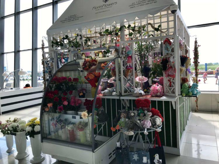 ウラジオストク空港のフラワーショップ(花屋)