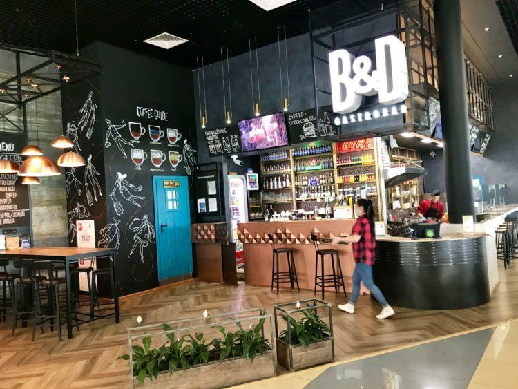 ウラジオストク空港出国ゲート手前のカフェ