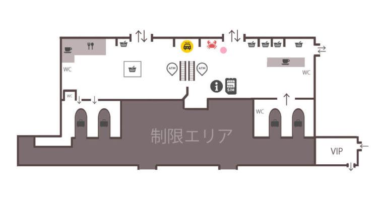 ウラジオストク空港内案内図MAP(マップ)