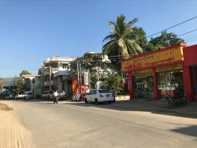 世界三代仏教遺産バガンの中心地、ニャウンウーの町並み