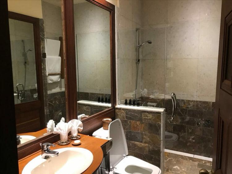 世界三代仏教遺産バガンのオールドバガン内にあるザ ホテル@タラバー ゲートの部屋のバスルーム
