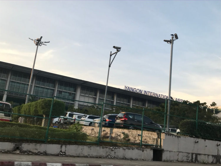 ヤンゴン空港から市内へ移動はGrabタクシーがオススメ