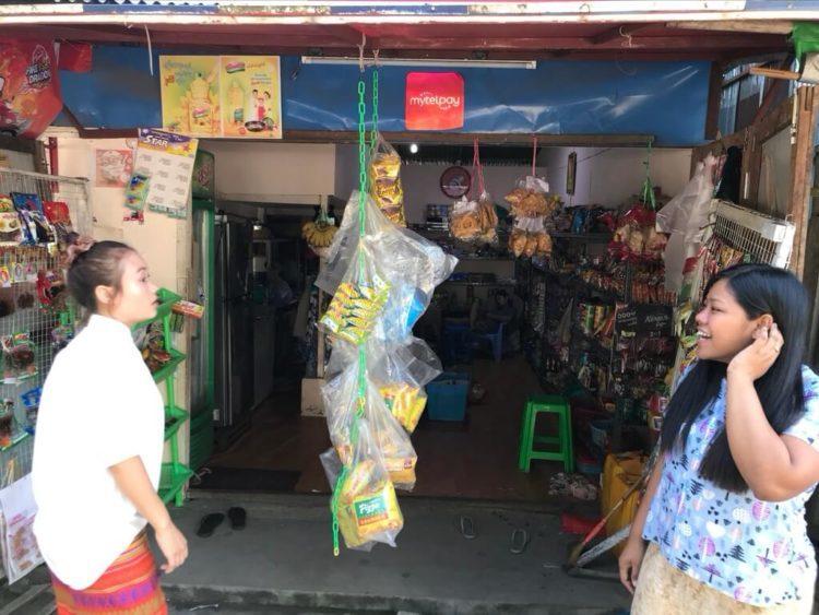 ミャンマーでSIMカードへの追加データは個人雑貨商店でも購入可能