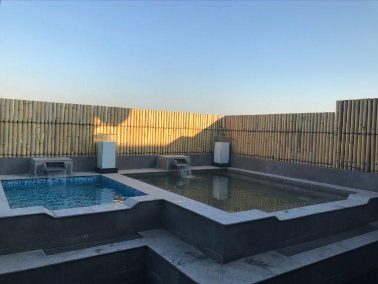 ミャンマー東屋ホテル ヤンゴンの屋上露天風呂温泉と水風呂