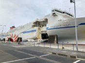 日本一周Nバン車中泊 1日目 大洗〜苫小牧フェリー さんふらわあの巨大な船体