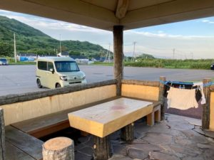 日本一周Nバン車中泊 5日目 道の駅じゃないのに車中泊に最高!弁慶岬で洗濯物を干す