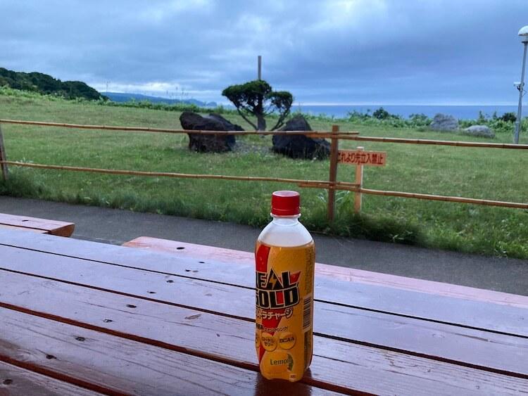 積丹半島の岬の湯しゃこたんのレストランにはテラスもあって海が見えて最高の景色を楽しみながら食事ができる
