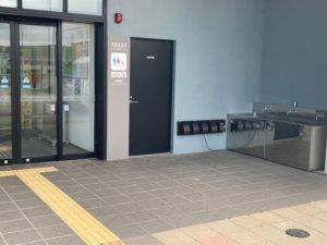湯巡りNバン日本一周車中泊6日目のよるに宿泊した石狩あいろーど厚田の洗面所。