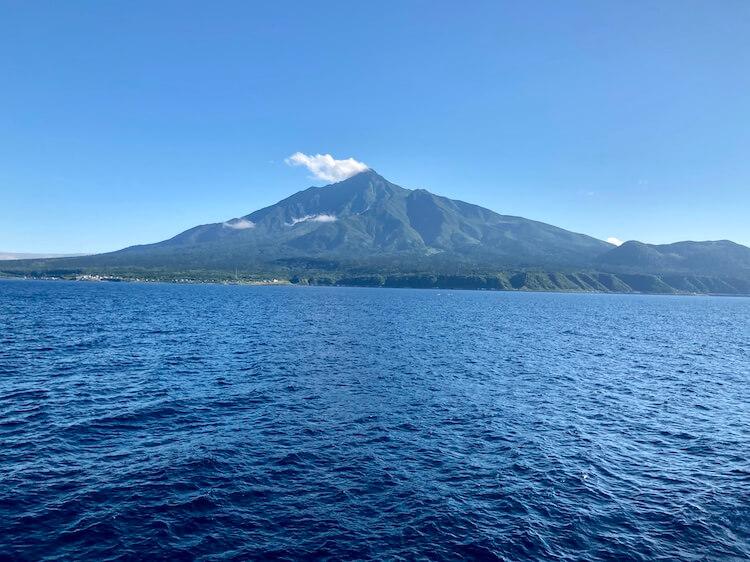 いざ利尻島/礼文島へ!ハートランドフェリー初乗船!フェリーから見た利尻富士。