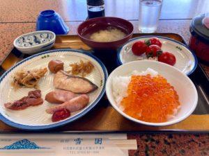 利尻島観光協会もおすすめの温泉と食事が評判の旅館雪国の朝食