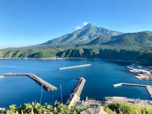 折りたたみ自転車で利尻島一周 観光スポット&見どころその8 ペシ岬から見る利尻富士