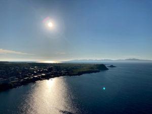 折りたたみ自転車で利尻島一周 観光スポット&見どころその8 ペシ岬から海を眺める