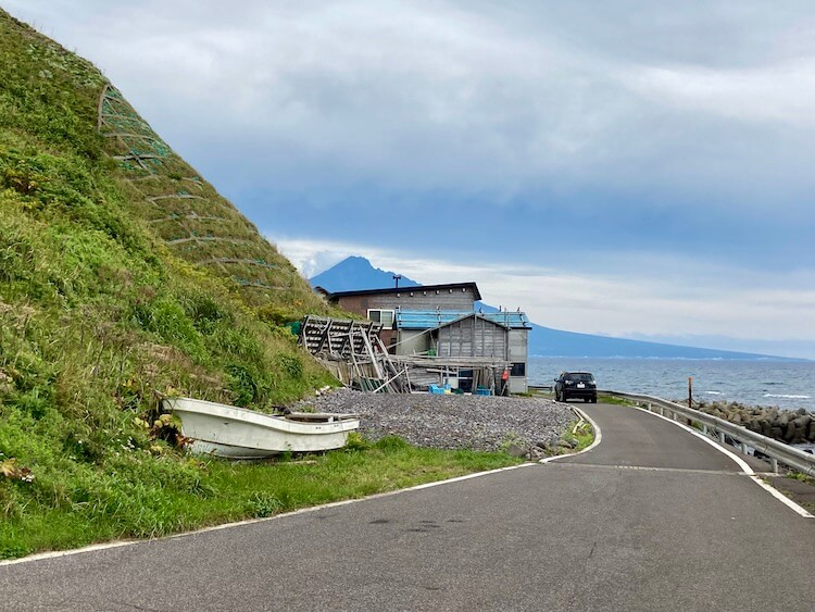 礼文島最南端の風景