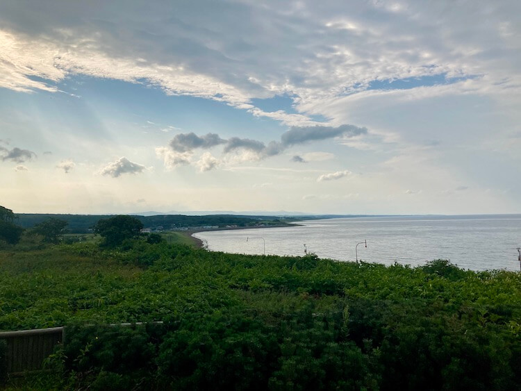 湯巡り日本一周Nバン車中泊13湯目 オホーツク温泉 ホテル日の出岬の露天風呂からオホーツク海を一望