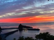 国設知床野営場の夕陽台展望台からの夕焼け・夕日は最高