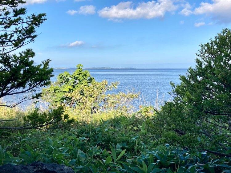 湯巡り日本一周Nバン車中泊19湯目 尾岱沼温泉 シーサイドホテルの露天風呂からは野付半島が一望できる