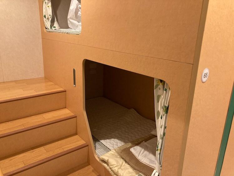 東京有明〜徳島のフェリー東九フェリーの二等洋室の客室