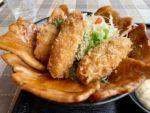 道の駅厚岸グルメパーク厚岸味覚ターミナル コンキリエ2階のレストランエスカルの牡蠣豚合戦丼