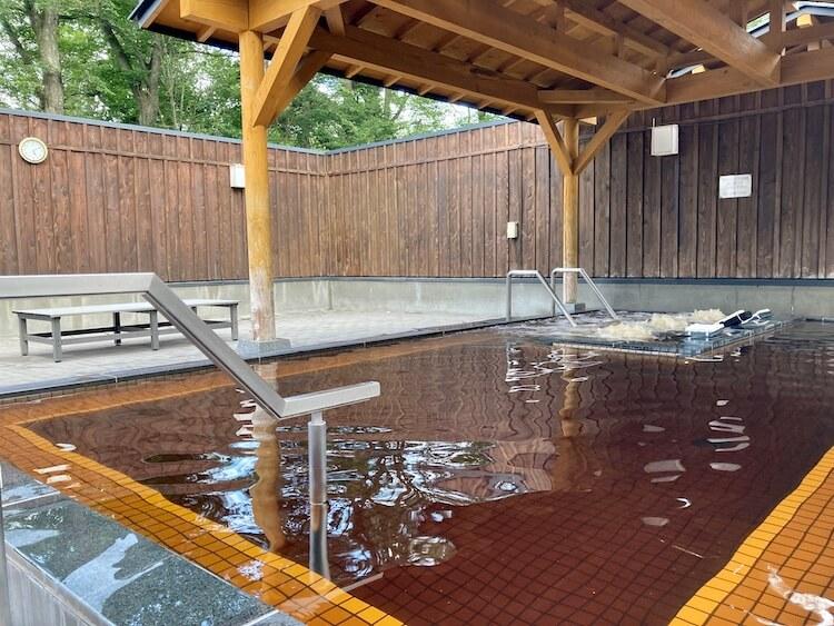 湯巡り日本一周Nバン車中泊21湯目 帯広モール温泉 オベリベリ温泉 水光園の露天風呂