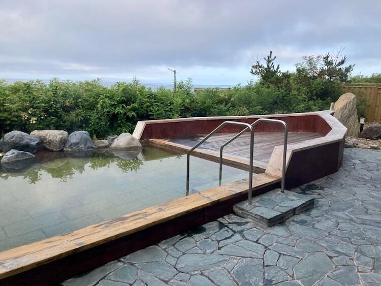 湯巡り日本一周Nバン車中泊22湯目 道の駅みついし 昆布温泉蔵三(くらぞう)の露天風呂は舟盛りになった気分