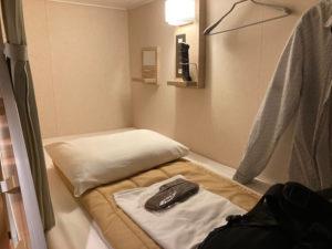 苫小牧〜大洗のフェリーさんふらわあのコンフォートタイプのベッド