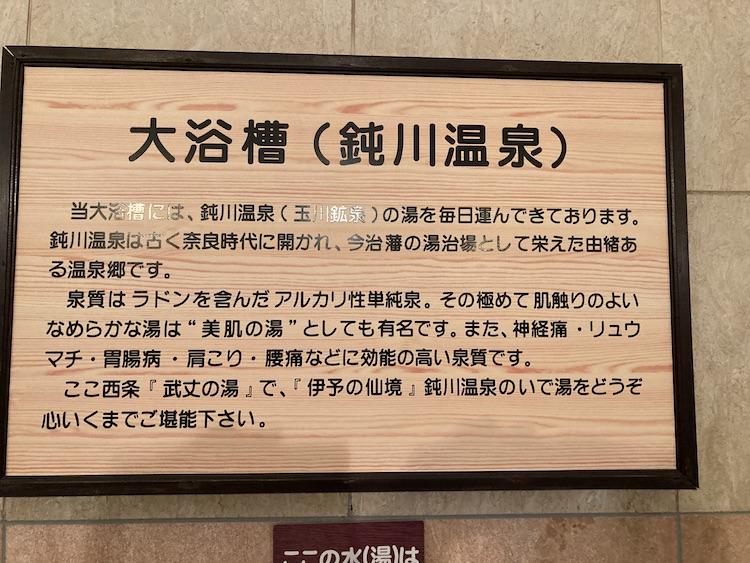 湯巡り日本一周Nバン車中泊35湯目 天然温泉 武丈の湯の内湯は鈍川温泉のお湯をタンクローリーで運んでいる