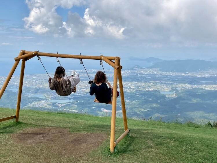 四国お遍路車中泊の旅10日目 雲辺寺山頂公園「天空のブランコ」