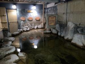 湯巡り日本一周Nバン車中泊38湯目 炭酸美肌温泉 らんぷの湯の露天風呂??