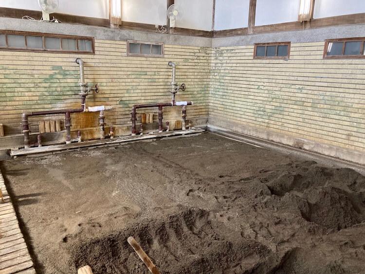 湯巡り日本一周Nバン車中泊39湯目 別府竹瓦温泉の砂湯