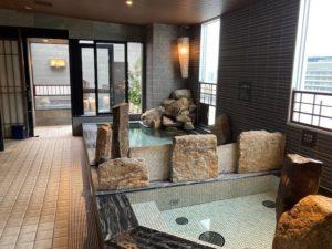車中泊中に台風接近でドーミーインへ避難湯巡り日本一周Nバン車中泊41湯目 天然温泉ドーミーイン宮崎の大浴場