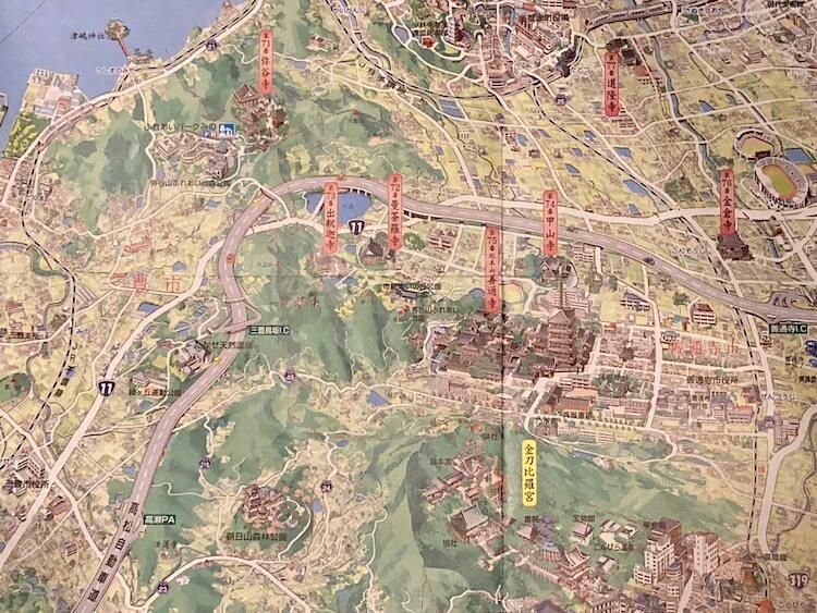 ドライブお遍路に大活躍の香川早わかりマップ