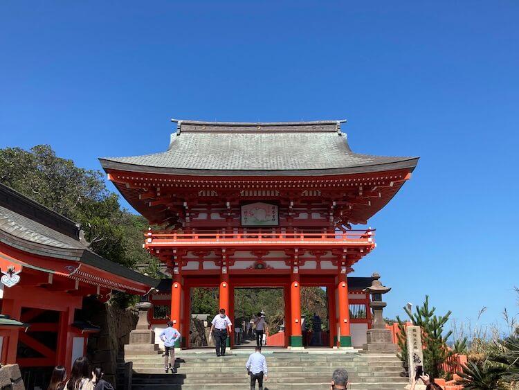 日本一周Nバン車中泊42日目 観光トイレ駐車場から鳥居につく頃には汗だく