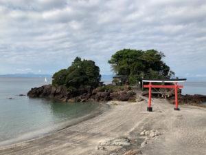 日本一周Nバン車中泊43日目 九州ーのパワースポット 神川大滝の前に立ち寄った荒平天神